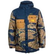 O'Neill Newschoolers Mens Insulated Snowboard Jacket, Brown Aop, medium