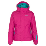 O'Neill Jewel Girls Snowboard Jacket, Framboise Pink, medium