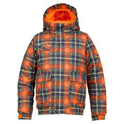 Burton Twist Bomber Girls Snowboard Jacket, Clockwork Tartlet Plaid, 256