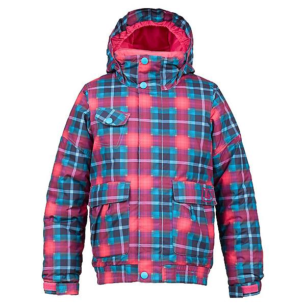 Burton Twist Bomber Girls Snowboard Jacket, Hot Streak Tartlet Plaid, 600