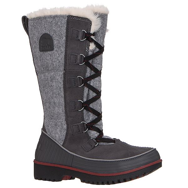 Sorel Tivoli High II Womens Boots, Dark Grey-Red, 600