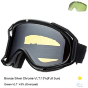 Electric Rig Goggles, Gloss Black-Bronze Silver Chrome + Bonus Lens, medium