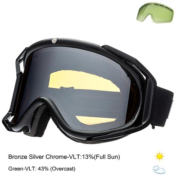 Electric Rig Goggles, Gloss Black-Bronze Silver Chrome + Bonus Lens, 600