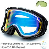 Electric Rig Goggles 2015, Gloss Black-Yellow Blue Chrome + Bonus Lens, medium
