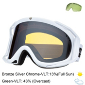 Electric Rig Goggles, Gloss White-Bronze Silver Chro + Bonus Lens, medium