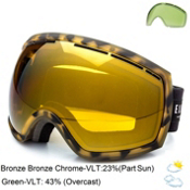 Electric EG2 Goggles 2015, Tort-Bronze Bronze Chrome + Bonus Lens, medium