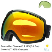 Electric EG2 Goggles 2015, Gloss Black-Bronze Red Chrome + Bonus Lens, medium