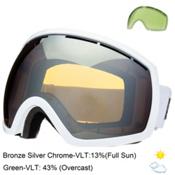 Electric EG2 Goggles, Gloss White-Bronze Silver Chrome, medium