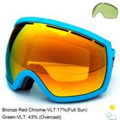 Electric EG2 Goggles, Code Blue-Bronze Red Chrome + Bonus Lens, medium