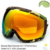 Electric EG2 Goggles, Hemp-Bronze Red Chrome + Bonus Lens, medium