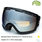 Electric EG2.5 Goggles, Gloss Black-Bronze Silver Chrome, medium
