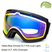 Electric EG2.5 Goggles, Gloss Black-Yellow Blue Chrome + Bonus Lens, medium