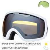 Electric EG2.5 Goggles, Gloss White-Bronze Silver Chrome, medium