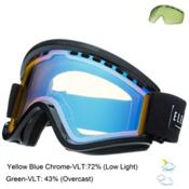 Electric EGV Goggles, Gloss Black-Yellow Blue Chrome + Bonus Lens, medium