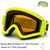 Electric EGV Goggles, Nukus-Bronze Blue Chrome + Bonus Lens, medium