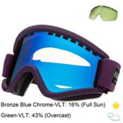 Electric EGV Goggles, Haze-Bronze Blue Chrome + Bonus Lens, medium