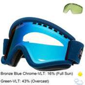Electric EGV Goggles, Blues-Bronze Blue Chrome + Bonus Lens, medium