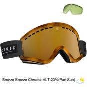 Electric EGV Goggles, Tort-Bronze Bronze Chrome + Bonus Lens, medium