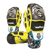 Level Worldcup CF Ski Racing Mittens, Black-Yellow, medium