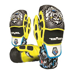 Level Worldcup CF Ski Racing Mittens, Black-Yellow, 256