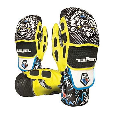 Level Worldcup CF Ski Racing Mittens, Black-Yellow, viewer