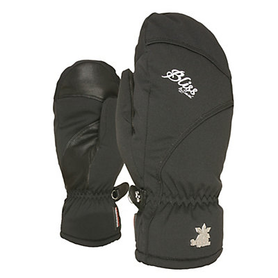 Level Mummies Womens Mittens, Black, viewer