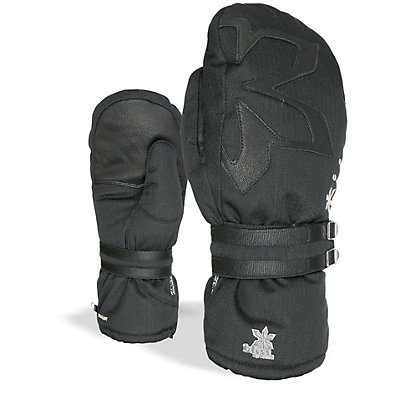 Level Oasis Womens Mittens, Black, viewer