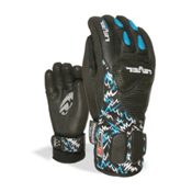 Level Worldcup CF JR Ski Racing Gloves, Black, medium