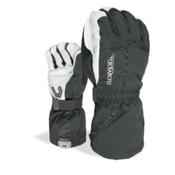 Level Off Piste Gloves, Black-White, medium