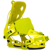 Flow NX2 Hybrid Snowboard Bindings, Lime, medium