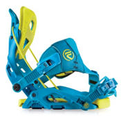 Flow Fuse Hybrid Snowboard Bindings, Blue-Lime, medium