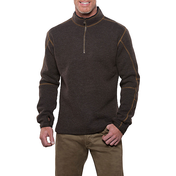 KUHL Thor 1/4 Zip Mens Sweater, Espresso, 600