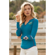 Alp-n-Rock Native Cross Long Sleeve Womens Shirt, Iced Teal, medium