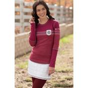 Alp-n-Rock Vintage Snowflake Womens Shirt, Claret, medium