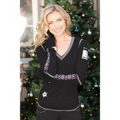Alp-n-Rock Classic Ski Womens Shirt, Black, medium