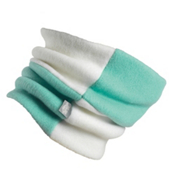 Turtle Fur Original Rubix Girls Neck Warmer, Minty Fresh-Alabaster, medium