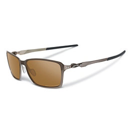 Oakley Tincan Polarized Sunglasses, Tungsten-Tungsten Iridium Polarized, 256