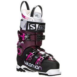 Salomon Quest Pro 100 W Womens Ski Boots, Black-Burgundy, 256