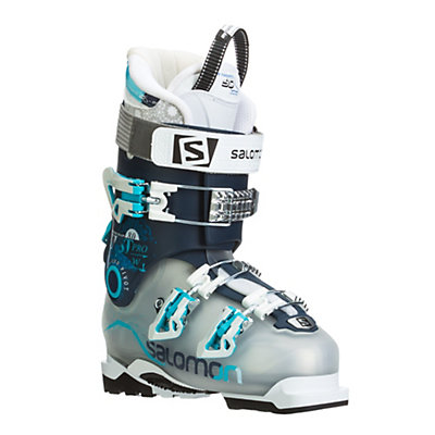 Salomon Quest Pro 80 W Womens Ski Boots, Crystal Translucent-Dark Blue, viewer