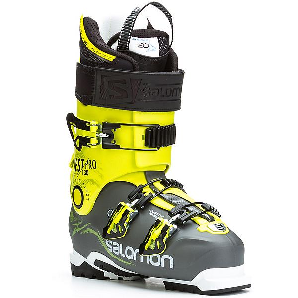 Salomon Quest Pro 130 Ski Boots, Anthracite-Acid Green, 600
