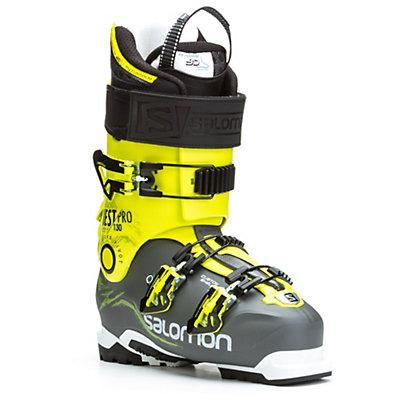 Salomon Quest Pro 130 Ski Boots, Anthracite-Acid Green, viewer