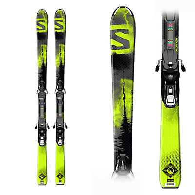 Salomon Q-Max Jr. M Kids Skis with Ezy 7 Bindings, , viewer