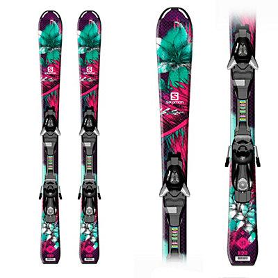 Salomon Q-Lux Kids Skis with EZY 5 Bindings, , viewer