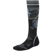 SmartWool PhD Ski Light Pattern Womens Ski Socks, Charcoal, medium