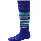 SmartWool Wintersport Stripe Kids Ski Socks, Liberty, medium