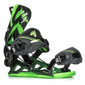 Gnu Mutant Snowboard Bindings, Green, medium