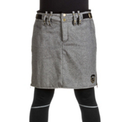 Skea Moyo Short Wool Skirt, Grey Wool, medium