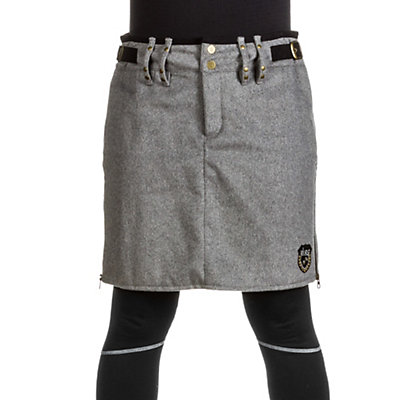Skea Moyo Short Wool Skirt, Grey Wool, viewer