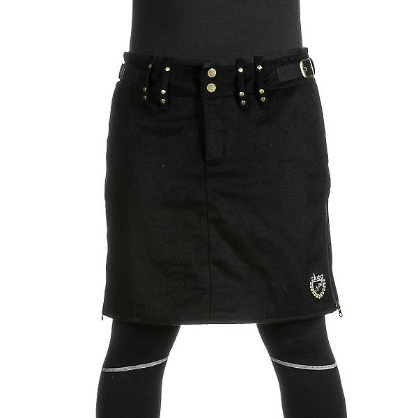 Skea Moyo Short Wool Skirt, Black Wool, 600