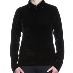 Skea Invisible Zip T Neck Womens Mid Layer, Black, 256